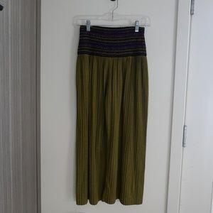 MISSONI VTG Olive Pleated Culottes 40/2/4